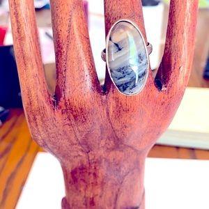 A Jasper gemstone ring in size 8